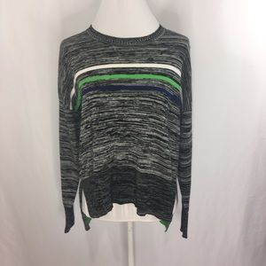 French Connection Sweater Hi Low Stripe Sz Small